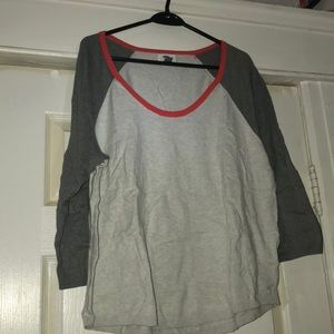 Old Navy Jersey Style Grey Sweater